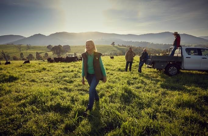 Farmers in paddock